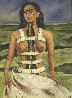 la colonne brisée frida kahlo 1944